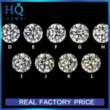 G to H color white moissanite stones factory round brilliant cut