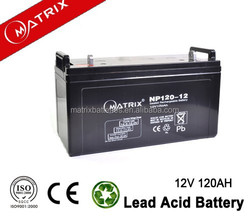 Lead acid agm deep cycle 12v battery 120ah for solar power system