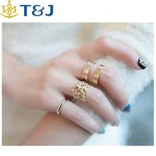 >> Female Punk Polish Gold Silver Stack Plain Cuff Midi Ring Mid Finger Knuckle Ring Set Anel Feminino wholesale /