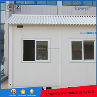 can be made of different sizes Galvanised steel structure with corner casts and forklift pockets container house