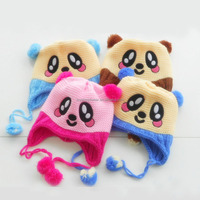 New innovative products 2015 bear animal patterns knitted beanie hat alibaba prices