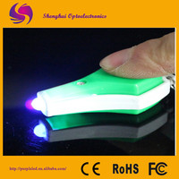 UV led flashlight/ small keyring light,mini keychain light,