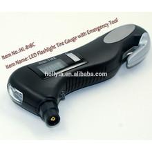 Car kit, Car tool, Car repair tool, Tire pressure gauge with LED Flashlight Torch