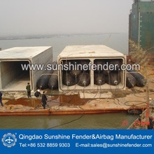 launching use inflatable lower cost rubber airbag