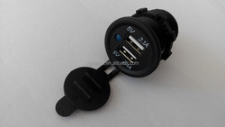 New 4.2A Waterproof Duel USB Charger Socket Outlet 2.1 amp Panel Mount Jack Motorcycle