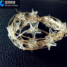 Button battery operated Submersible led christmas star shaped lights