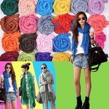 S231 Ningbo Lingshang Wholesale 2015 New Design Summer Women Fashion Solid Color Chiffon Cheap Pashmina Scarf