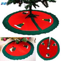 90 Christmas Tree skirt Xmas Tree Apron Christmas Scene Decoration Printed