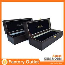 promotional bespoke 2012 luxury leather wine packaging box