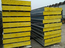 Glasswool sandwich panel house / R value / fire rated wall panel for warehouse