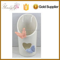 Hot sale ceramic Pen Holder with butterfly design