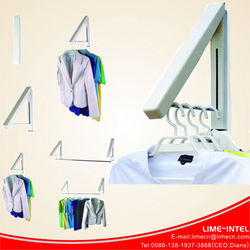 wall mounted collapsible hanger laundry room organizer / Hidden type multifunctional clothes hanger