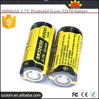 SKY RAY SR32650 high capacity 6000mAh 3.7V Protected Rechargeable li-ion 32650 battery