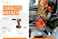 3000IPM Cordless Electric Wrench with 18V fast charging Li-ion battery ( POWER TOOLS used for construction and manufacturing )