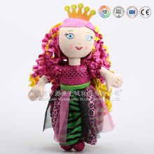 Seek antique style plush toys american doll from guangzhou ICTI factory