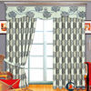 China luxury european style window curtains crushed voile curtain