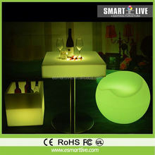 promotion sale led table/Huizhou chair&table&sofa&cube garden led ball light
