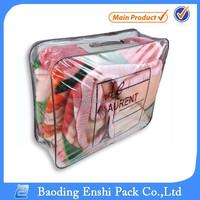 high quality cheap price clear vinyl pvc zipper 8kg blanket packing bag