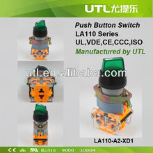 TUV UL CSA UTL MADE 22mm turn button LED push botton switch