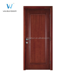 Elegant singel door design Black walnut venner interior wood door for study