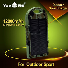 shenzhen factory 10000mAh solar laptop charger with dual usb