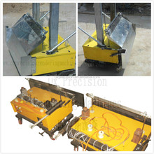 auto rendering machine plastering brick walls with construction equipment pictures