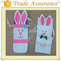 hot sale easter felt bags with bunny bags easter candy bags