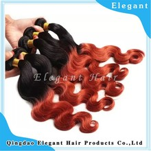 Two tone ombre color human hair body wave 100 human hair pure virgin russian hair
