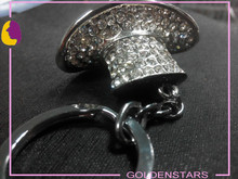 luxury fashion diamond key chain for bag for clothes hat/cap shape key holder