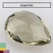 Artificial olive pear shape cubic zircon for dress