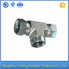Best quality hydraulic y tee pipe fitting
