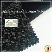 Factory price Resin woven interlining fabric for men's suit/shirt/collar interfacing (#SZ731515)