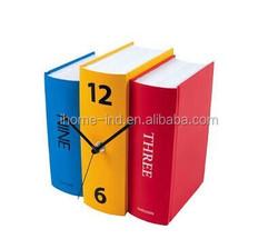 2015 New Design Creative Novelty Book Shape Clock Table Clock Fashion Decorative Clock for Gift