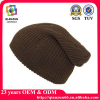 Wholesale Custom Cheap Knitted Striped Beanie Hats And Cap