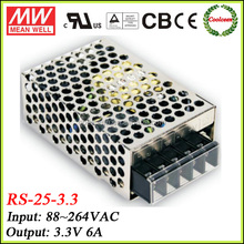 Meanwell 25W ac/dc power supply 3.3V RS-25-3.3