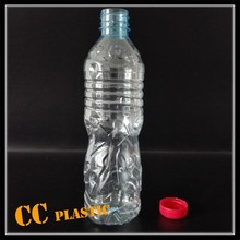300ml 400ml 500ml 600ml 800ml clear pet plastic bottle for mineral water with screw cap