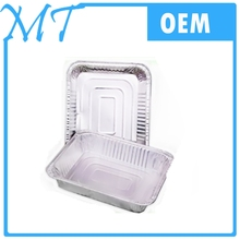 Offer different shapes 100ml to 800ml capacity disposable aluminum foil container/tray/lunch box with lid