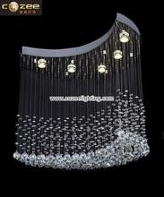 Moon Shape Crystal Chandelier Hanging Lighting Pendant Lamps Lights Fixtrures CZ8059/5