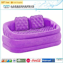 Fashionable inflatable flocked lounge sofa