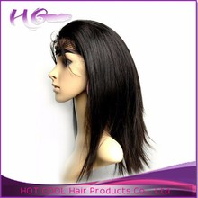 Top quality brazilian lace wig no chemical human hair lace front wigs with bangs