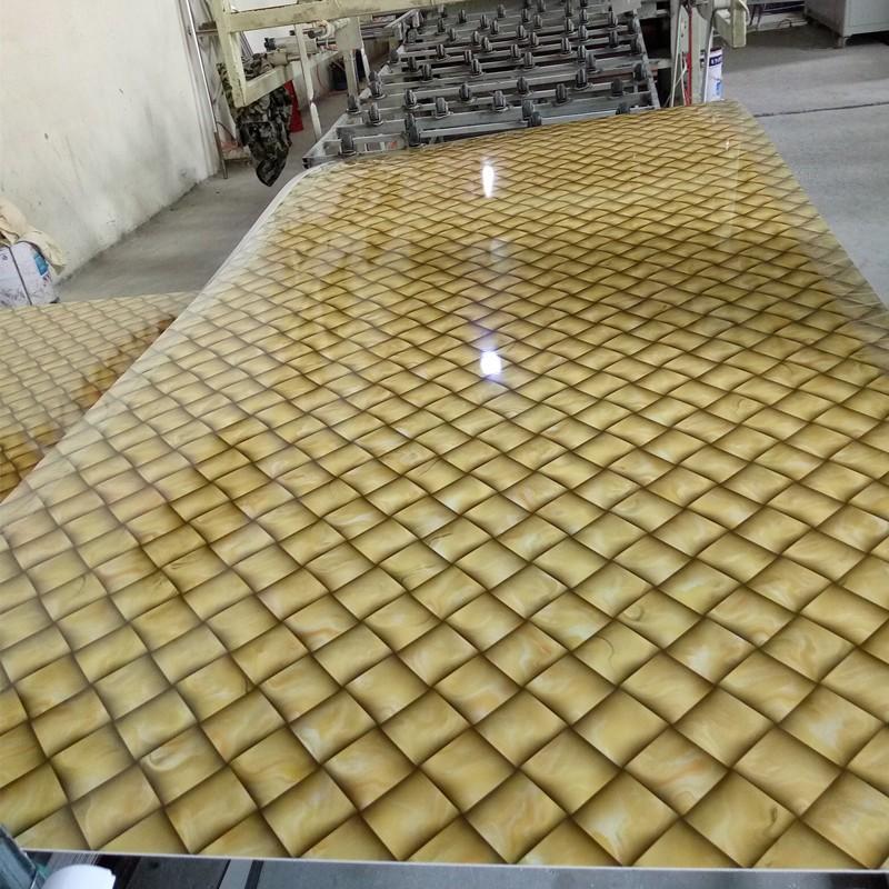 High Gloss Uv Board Faux Stone Marble Sheet Pvc Marble
