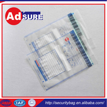 secure courier bag wholesaler/safety deposit bag/packaging bag security