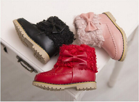Bowknot Beautiful Winter Ankle Boots Girls Shoes