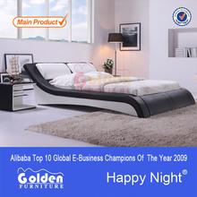 Foshan g883# fabricante de muebles de madera india cama doble de diseño