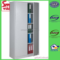 Good quality metal filing cabinet in office for books or files stock