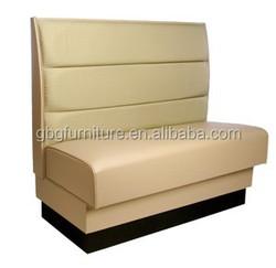 Hot sale modern european restaurant furniture leather sofa for sale 9053