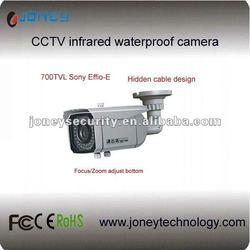 CCTV waterproof IR bullet camera, externally manual adjust the focus and zoom