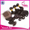 Closure raw unprocessed virgin brazilian hair natural colour virgin hair bundles with lace closure