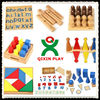 Hot cheap montessori for sale wooden montessori materials in china montessori furniture kids educational toys 88 pcs full set
