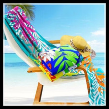 Velour OEM reactive printing summer beach towels made of 100%cotton